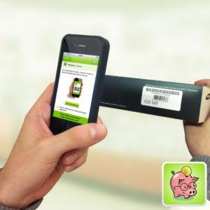 Con l'applicazione per iPhone di Ultimoprezzo è possibile effettuare la scansione dei codici a barre