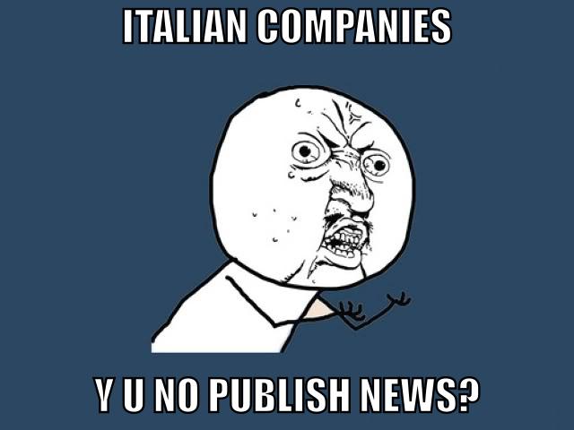 Le aziende italiane hanno una scarsa propensione a comunicare e condividere il proprio percorso d'impresa