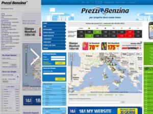 Restyling del portale Prezzi Benzina