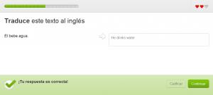 Duolingo si basa su semplici esercizi di traduzione