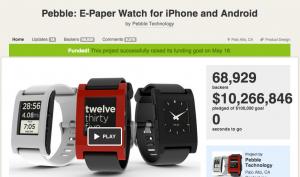 Il progetto Pebble su Kickstarter
