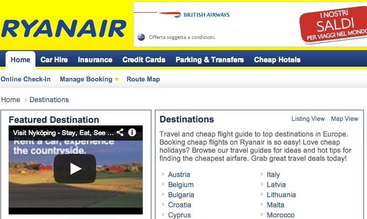 Ryanair ads