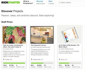 Kickstarter, una delle piattaforme di crowdfunding più famose del mondo