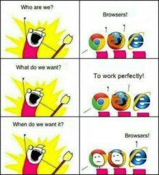 Vignetta sfida tra browser