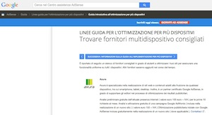 Axura è il primo fornitore multidispositivo consigliato da Google in Italia