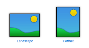 Visualizzazione landscape vs visualizzazione portrait