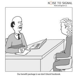 L'accesso a Facebook in azienda dev'essere considerato un privilegio? (fonte immagine: http://goo.gl/9jw54y)