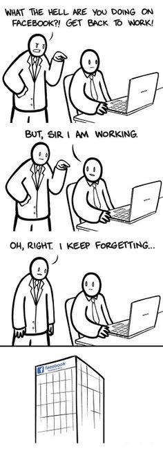 Sì, stare su Facebook è anche un lavoro! (fonte immagine: http://goo.gl/K8EHUY)