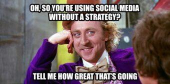 Essere sui social è importante ma senza una strategia non ha alcun senso, ed è anche rischioso (fonte immagine: http://goo.gl/xyeiHA)