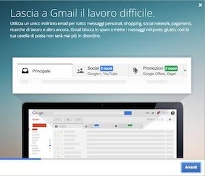 Landing Page Gmail
