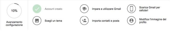 Personalizza account Gmail