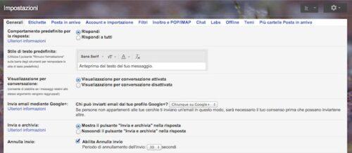 funzione annulla invio Gmail